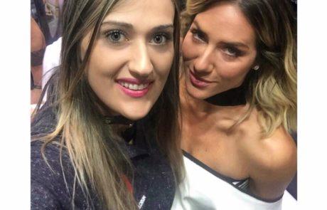 Com a atriz Giovanna Ewbank