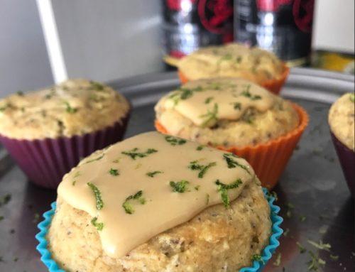 Muffins de Limão Protéicos Low Carb